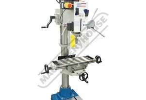 DMF-42 Workshop 3MT Geared & Tilting Head Mill - Drill 31.5mm Drilling Capacity (X) 370mm (Y) 175mm