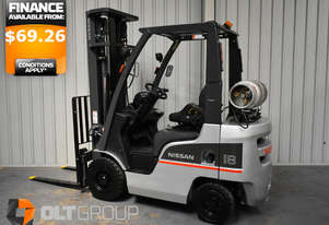 2013 Used Nissan 1.8 Tonne Forklift 5.5m Lift Height LPG with Sideshift