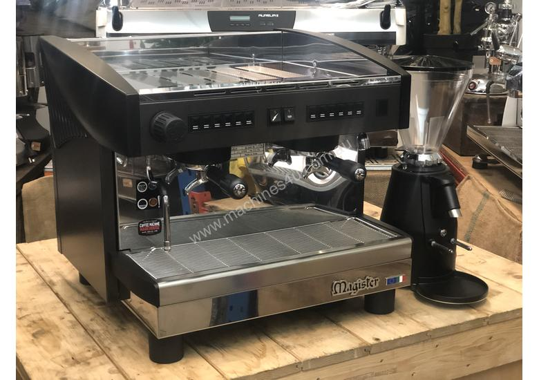 MAGISTER STILO 2 GROUP COMPACT MACHINE & ON DEMAND GRINDER COMBO DEAL CAFE