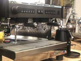 MAGISTER STILO 2 GROUP COMPACT MACHINE & ON DEMAND GRINDER COMBO DEAL CAFE  - picture0' - Click to enlarge