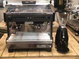 MAGISTER STILO 2 GROUP COMPACT MACHINE & ON DEMAND GRINDER COMBO DEAL CAFE  - picture1' - Click to enlarge