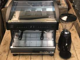 MAGISTER STILO 2 GROUP COMPACT MACHINE & ON DEMAND GRINDER COMBO DEAL CAFE  - picture2' - Click to enlarge