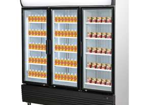 Triple Door Upright Glass Door Combined Fridge & Freezer LG-1500GEF