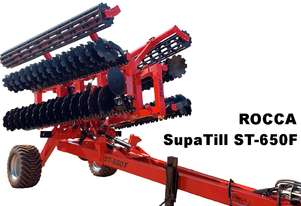 Rocca ST-650T Heavy Duty Folding SupaTill Tillage  Disc Harrows Trilling Machine