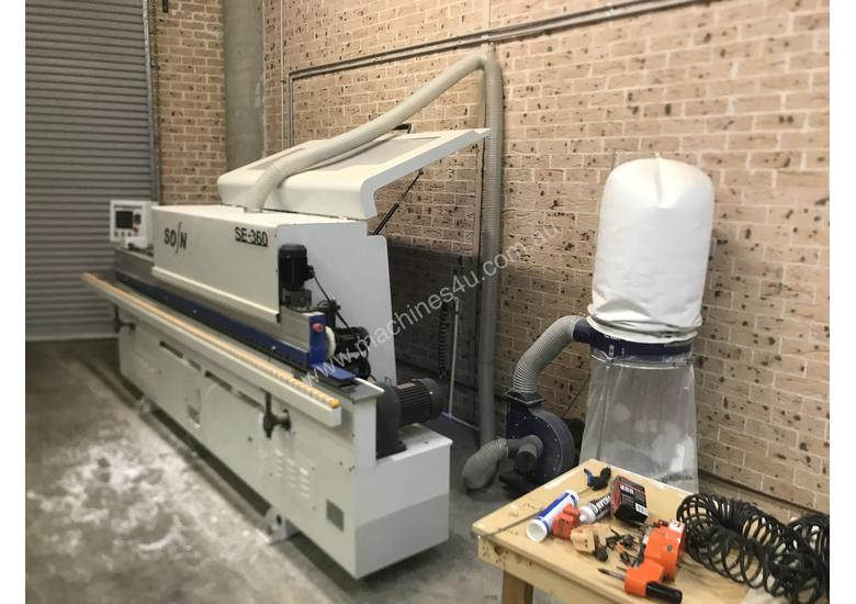 Automatic edging machine , panel saw , compressor and Blum