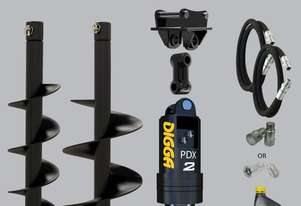 Digga PDX2 auger drive combo package mini excavator up to 2.7T