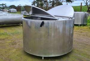2,280lt STAINLESS STEEL TANK, MILK VAT