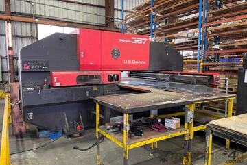 Amada Pega 367 CNC Turret Punch Press. 04PC control. Can be inspected under power in Melbourne