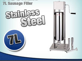SAUSAGE FILLER STAINLESS STEEL 7L