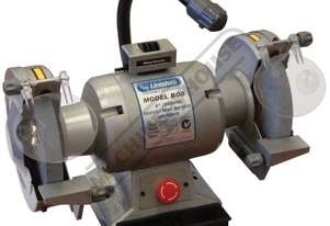 BG8 Industrial Bench Grinder Ø200mm Fine & Coarse Wheels 0.75kW - 1HP Motor Power