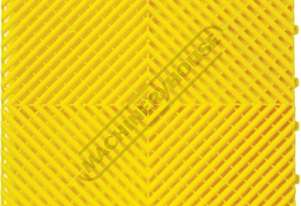 Yellow Industrial Flooring Tiles - Workshop QTY 25 Per Pack Covers 4 Square Metres