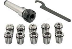 MT2/ER25 Collet Chuck Set with 10 Metric Collets