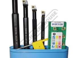 L430 Boring Bar Set - Carbide Insert 8, 10, 12, 16mm Boring Bars Includes 10 x Inserts - picture0' - Click to enlarge
