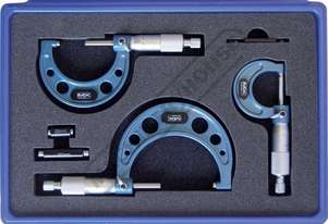 20-111 Outside Micrometer Set 0-75mm 3 Piece Set