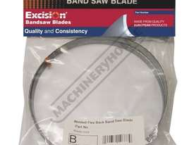 B196 Metal Band Saw Blade - 8 -12TPI Bi-Metal, Blade - 1440 x 12.7 x 0.65mm Suitable for Stainless S - picture0' - Click to enlarge