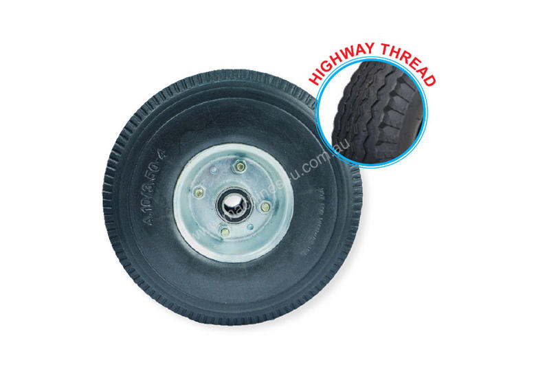 52102 - 260MM PU RUBBER FOAM FILLED PUNCTURE PROOF OFFSET WHEEL
