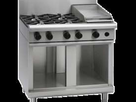 Waldorf 800 Series RNL8603G-CB - 900mm Gas Cooktop Low Back Version `` Cabinet Base - picture2' - Click to enlarge
