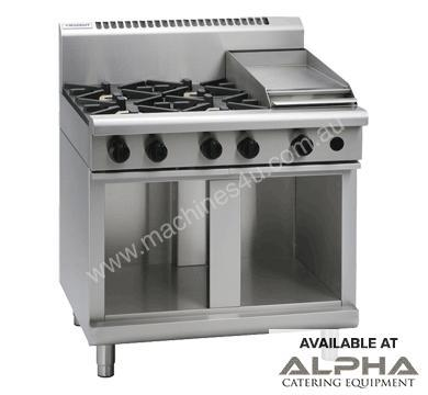 Waldorf 800 Series RNL8603G-CB - 900mm Gas Cooktop Low Back Version `` Cabinet Base