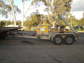 Galvanised cable drum trailer , with drum drive - picture3' - Click to enlarge