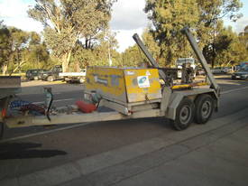 Galvanised cable drum trailer , with drum drive - picture4' - Click to enlarge