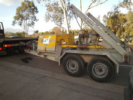 Galvanised cable drum trailer , with drum drive - picture0' - Click to enlarge