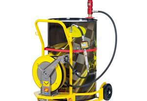 Meclube 3:1 Oil Trolley, Pneumatic Pump and Hose Reels Kit