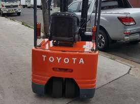 Toyota Electric Forklift 5FBE18 4700mm Lift Container Entry Fresh Paint & Serviced - picture1' - Click to enlarge
