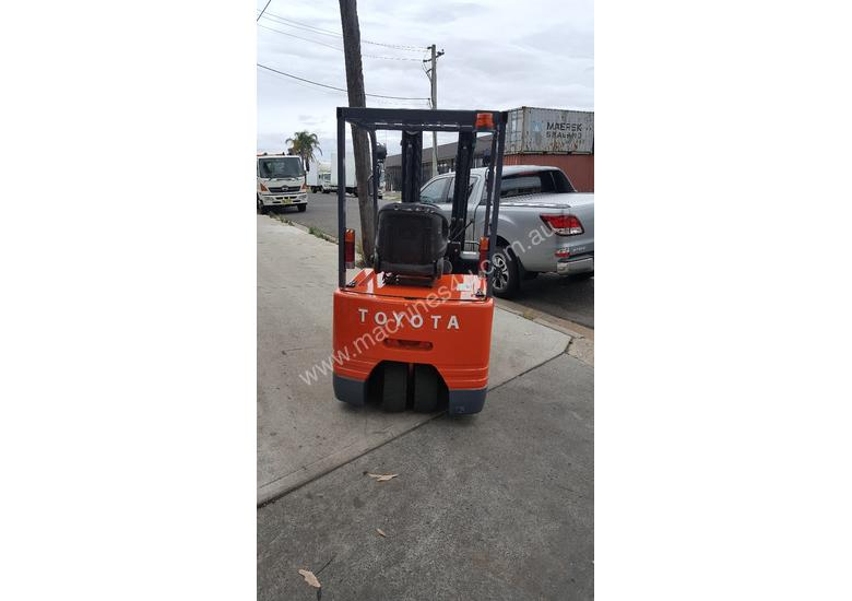 Toyota Electric Forklift 5FBE18 4700mm Lift Container Entry Fresh Paint & Serviced