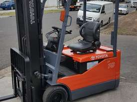 Toyota Electric Forklift 5FBE18 4700mm Lift Container Entry Fresh Paint & Serviced - picture2' - Click to enlarge