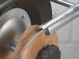 WG250/N Profiled Leather Honing Wheel - picture0' - Click to enlarge