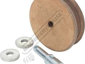 WG250/N Profiled Leather Honing Wheel - picture2' - Click to enlarge