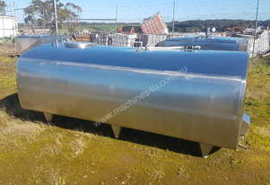 STAINLESS STEEL TANK, MILK VAT 3000 LT