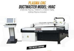 HVAC CNC Plasma 1500mm x 3100mm Includes 63Amp Power Source & Software