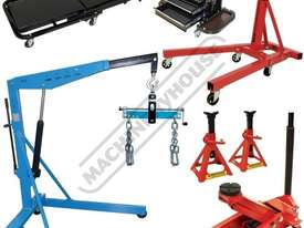 ALP-3 Automotive Lifting Mechanics Package Deal  Includes 1T Engine Crane, 907kg Engine Stand, 2.5T  - picture0' - Click to enlarge