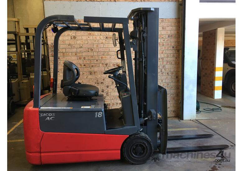 Forklift Nichiyu FBT18 4.7m Container Mast 2016 New Batt Like New Performance