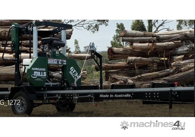 Now With 23 HP V Twin Hardwood Mills Portable Sawmill GT34 MASSIVE CLEARANCE OVER THE Blade