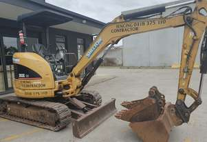 USED 2007 CAT 303CCR EXCAVATOR 3.5T + BUCKETS & AUGER DRIVE