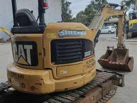USED 2007 CAT 303CCR EXCAVATOR 3.5T + BUCKETS & AUGER DRIVE - picture1' - Click to enlarge