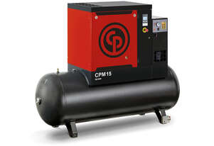Chicago Pneumatic Screw Air Compressor with Tank and Dryer