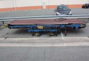 5 x 1.5m Air Pneumatic driven 3 rubber Belt Conveyor adjustable height and angle
