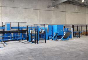 Punching & Shearing in one machine. Reduced cycle times and no material wastage