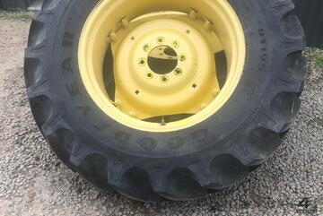 Near New Goodyear Tractor Tyres with John Deere Rims
