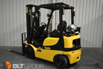 Yale 1.8 Tonne Forklift LPG 4825mm Container Mast Sideshift Solid Tyres