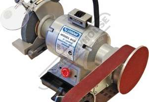 BG8-915 Industrial Bench Grinder with Linisher Ø200mm Medium Wheel Includes 915 x 50mm Linishing At
