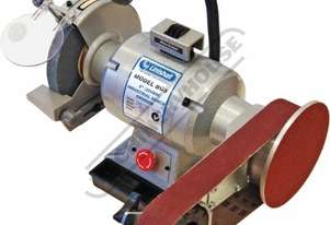 BG8-915 Industrial Bench Grinder with Linisher Ø200mm Medium Wheel & 915 x 50mm Linishing Attachmen