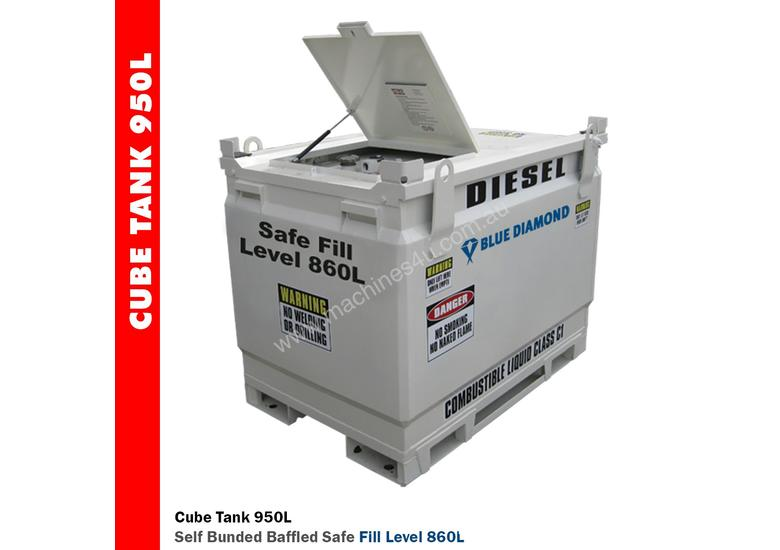 NEW 950L Diesel Fuel Tank Self Bunded Baffled