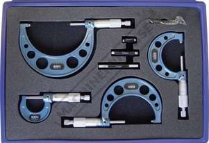 20-114 Outside Micrometer Set 0-100mm 4 Piece Set