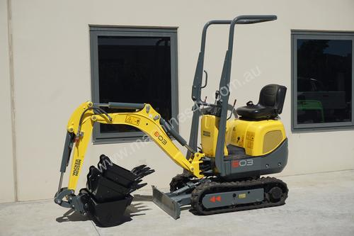 New 2015 Wacker Neuson 803RD 1T Mini Excavator