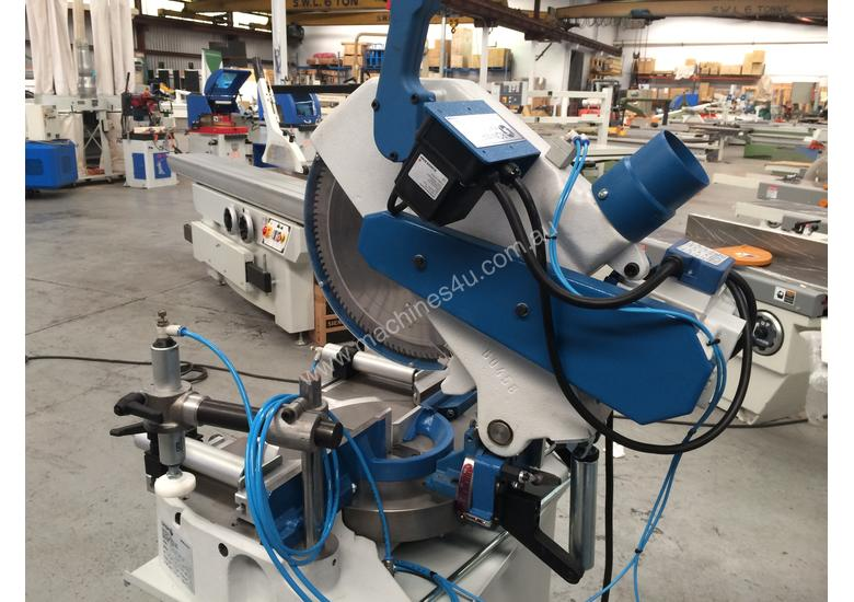 OMGA MITRE SAW MODEL T53 370 WITH PNEUMATIC CLAMPS