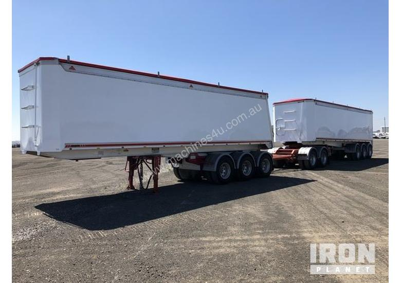2013 Gippsland Body Builders Tri/A Road Train Combination Tipping Trailer